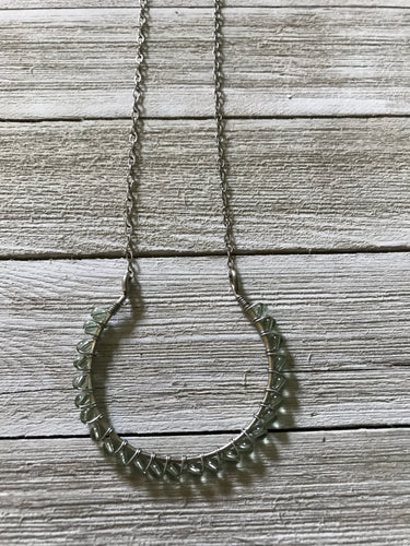 Bahia Necklace Silver/ Mint