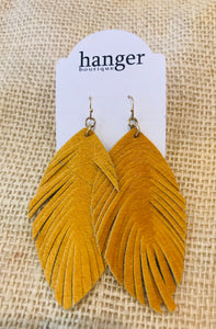 Alison Earrings in Mustard