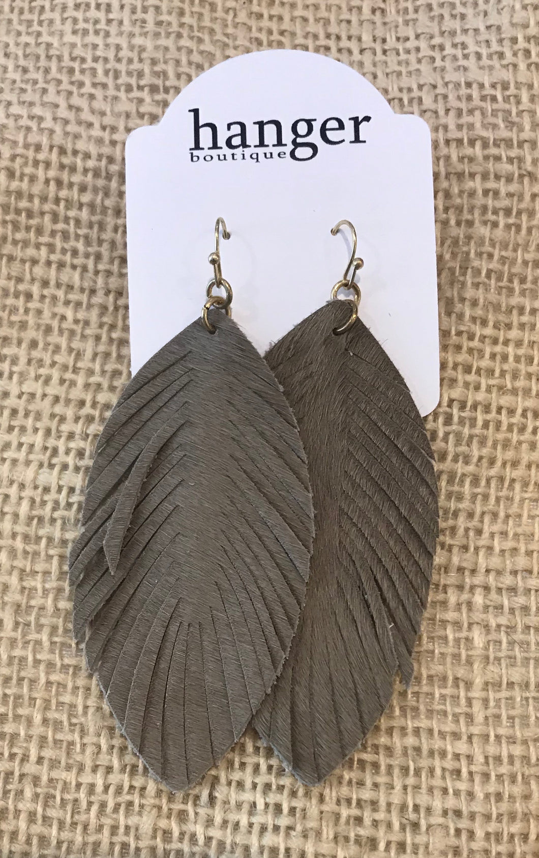 Alison  Earrings in Charcoal