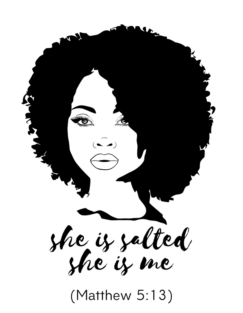 "Women's ""She is Salted She is Me"" Short Sleeve T-Shirt"