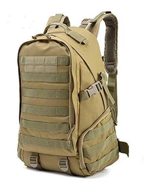 Tactical Military Backpack Camouflage Outdoor (Khaki) - Piketo