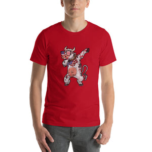 American Happy Cow July 4 Declaration of Independence Premium Fit Short-Sleeve Unisex T-Shirt