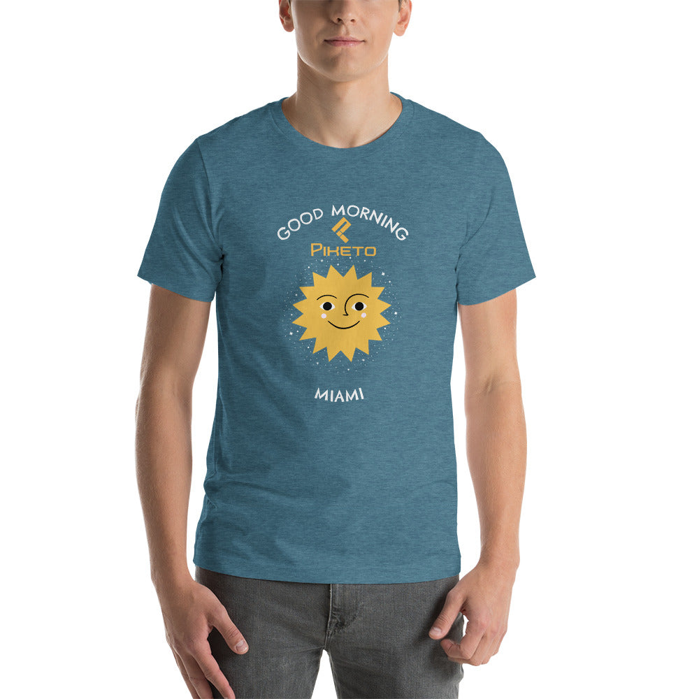 Good Morning Miami Casual Beach Short-Sleeve Unisex T-Shirt