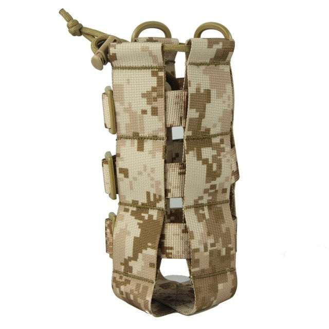 Tactical Water Bottle Pouch Military Molle System Kettle Bag