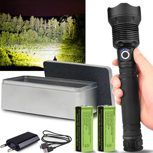 250000 lumens XHP90.2 most powerful led flashlight usb Zoom Tactical torch xhp50 Rechargeable battery hand light