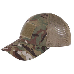 Outdoor Military Tactical Camo Mesh Cap Fishing Hunting Hiking Basketball - Piketo