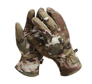 Softshell Fleece Thermal Waterproof Military Tactical Gloves Warm Full Finger Shooting Gloves - Piketo