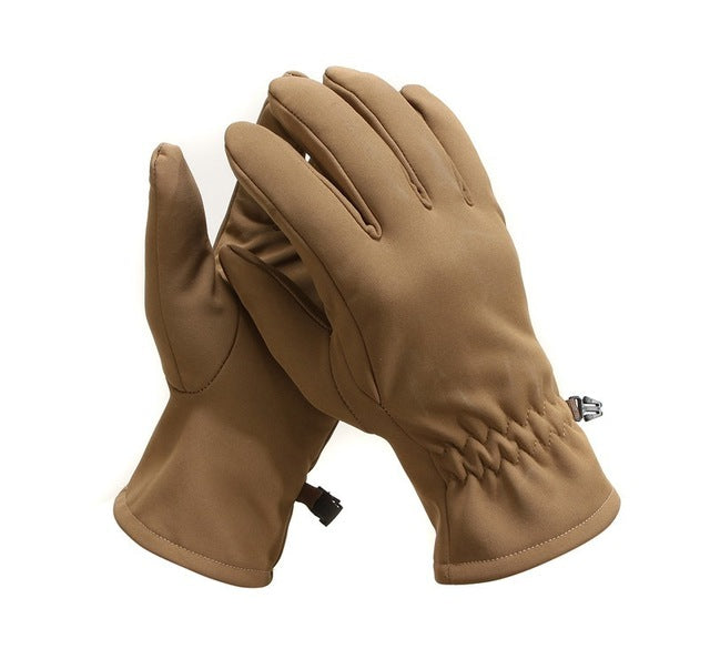Softshell Fleece Thermal Waterproof Military Tactical Gloves Warm Full Finger Shooting Gloves