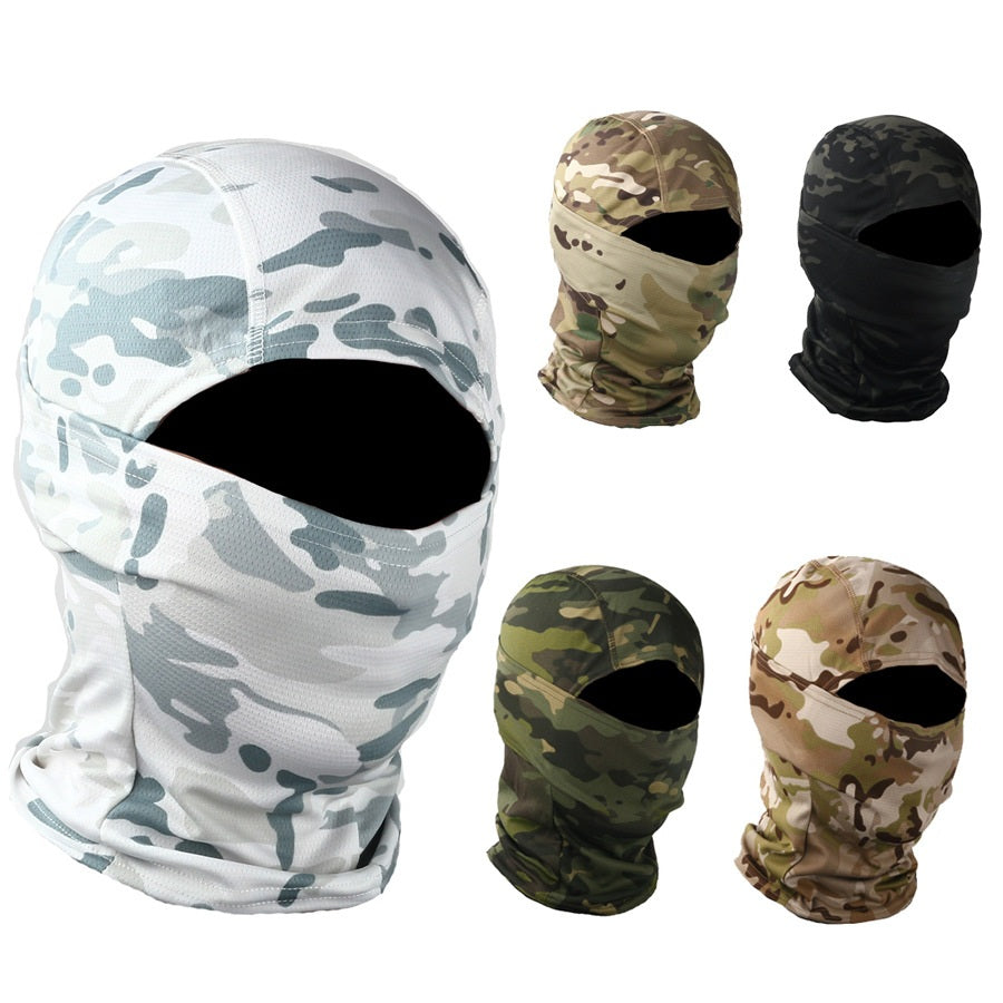 Headwear Outdoor Hood Cap Quick Dry Headgear Camouflage Face Mask - Piketo