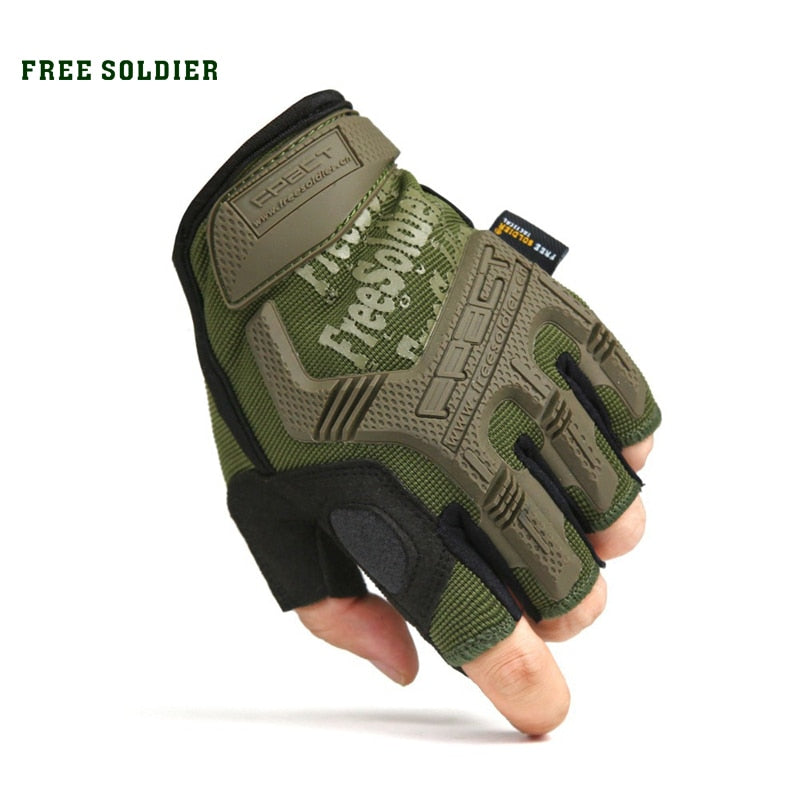 outdoor sport camping climbing training hiking half full finger gloves - Piketo