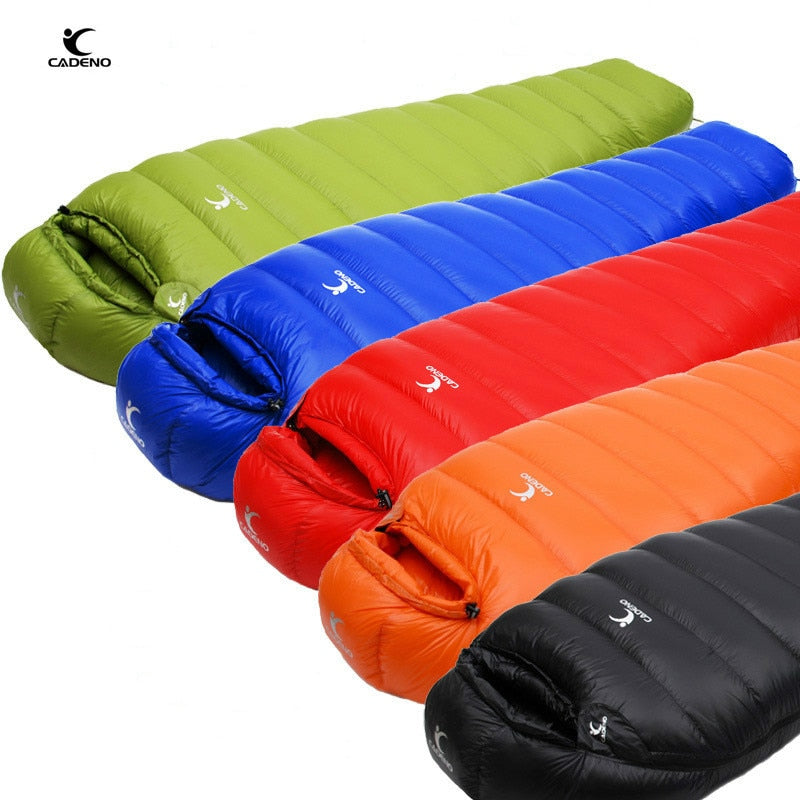 Mummy Type Sleeping Bag Outdoor Ultralight Winter Autumn White Duck Down Sleeping Bag - Piketo