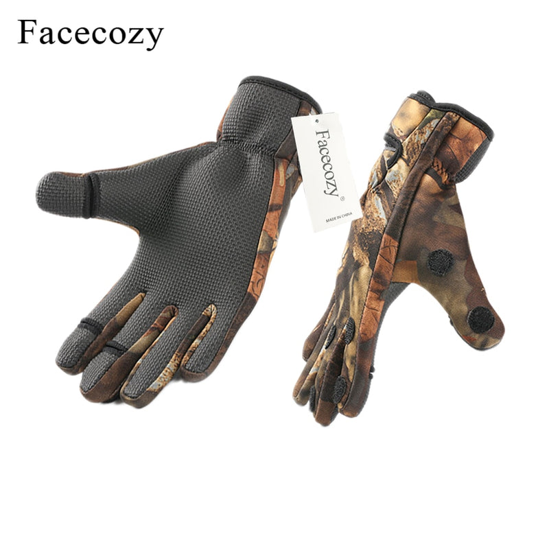 Winter  Outdoor Gloves Waterproof Three or Two Fingers Cut Anti-slip Climbing Glove - Piketo