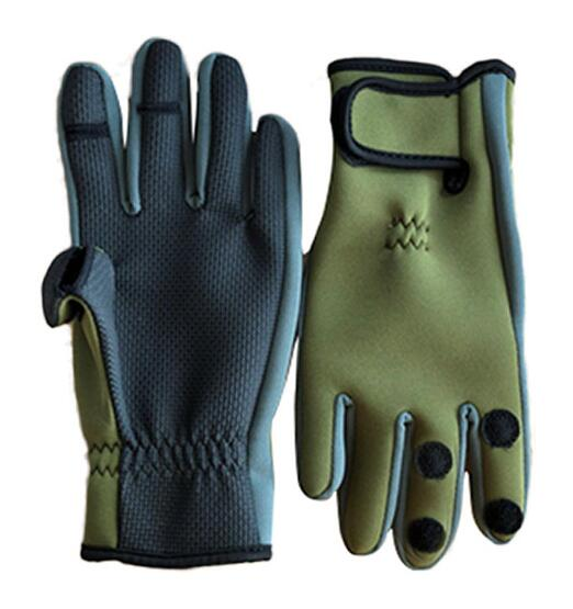 Winter  Outdoor Gloves Waterproof Three or Two Fingers Cut Anti-slip Climbing Glove