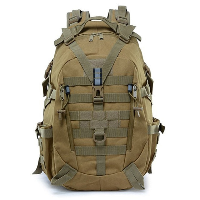 Large Camping Military Travel Tactical Backpack (Khaki) - Piketo