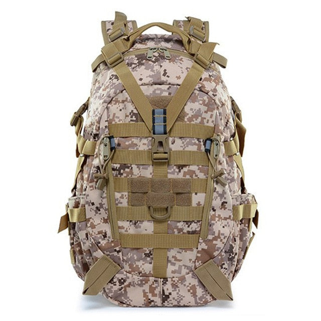 Large Camping Military Travel Tactical Backpack (Desert Digital) - Piketo
