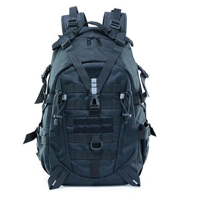 Large Camping Military Travel Tactical Backpack (Black) - Piketo