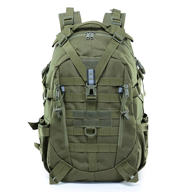 Large Camping Military Travel Tactical Backpack (Army Green) - Piketo