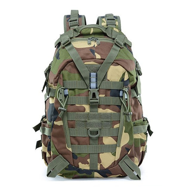 Large Camping Military Travel Tactical Backpack (Jungle Camo) - Piketo