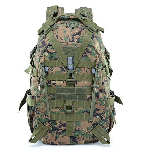 Large Camping Military Travel Tactical Backpack (Jungle Digital) - Piketo