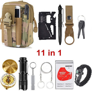 13 in 1 survival Gear kit Set Outdoor Camping Travel Survival Tactical Tools - Piketo