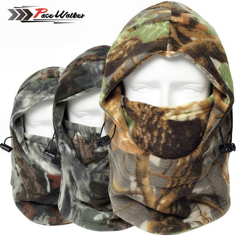 Cap Winter CamouflageThermal Hat Wind-proof Mask - Piketo