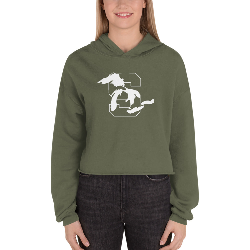 GO GREEN Lakes Cropped Hoodie