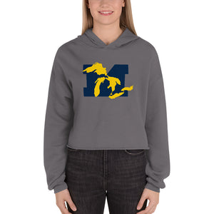 GO BLUE Lakes Cropped Hoodie