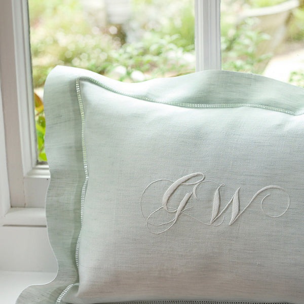 Monogrammed Boudoir Pillowcase