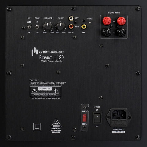 Receiver has 2 subwoofer outputs
