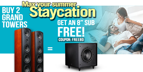 Buy 2 Verus 2 Grand Towers and get a Bravus 2 8D Sub