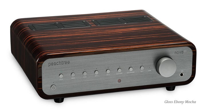 Peachtree Nova300 Stereo Amplifier - Gloss Ebony Mocha - Aperion Audio