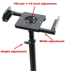 Adjustable Height Satellite Speaker Stand Mounts (Pair)