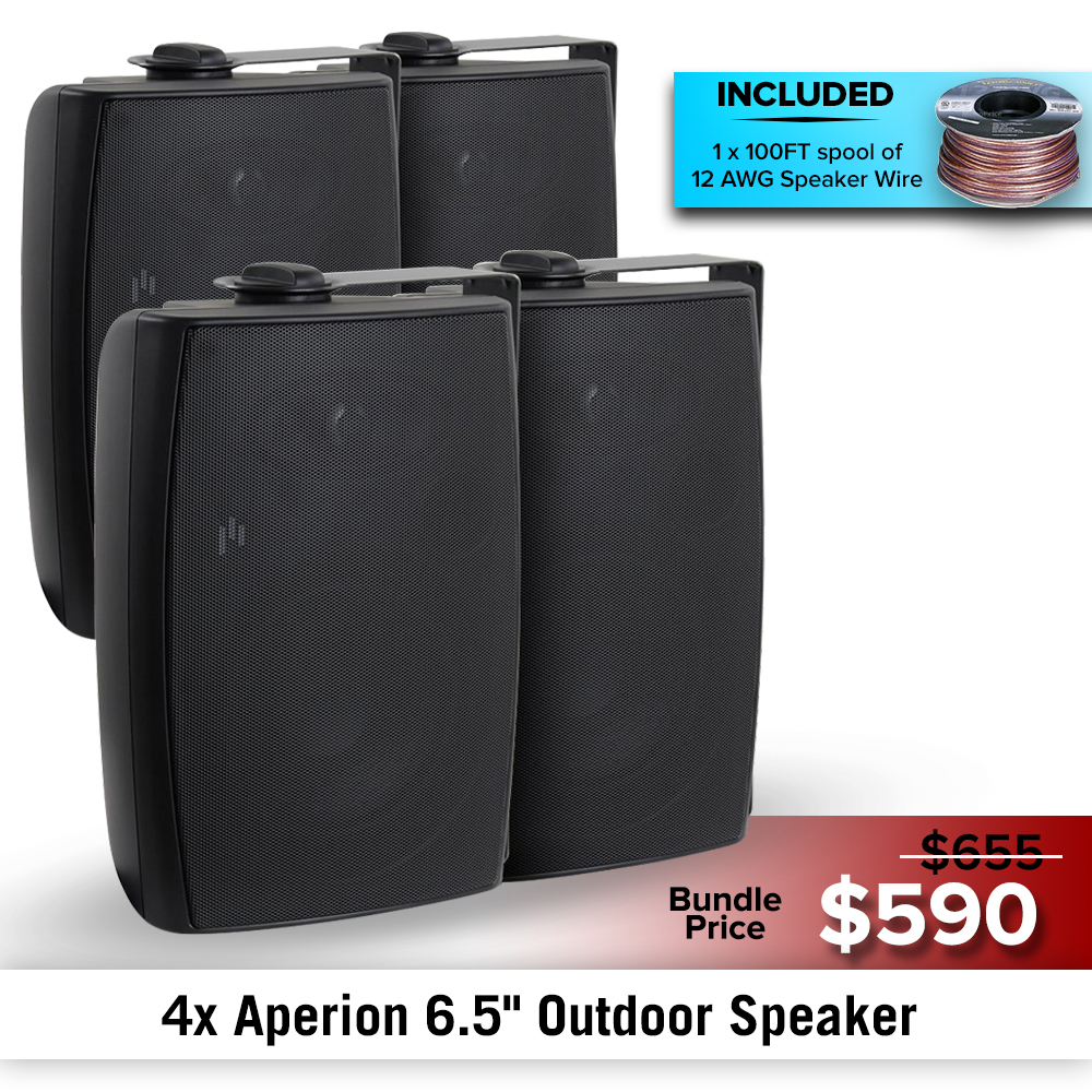 "Aperion Audio 6.5"" Outdoor Speaker Bundles"
