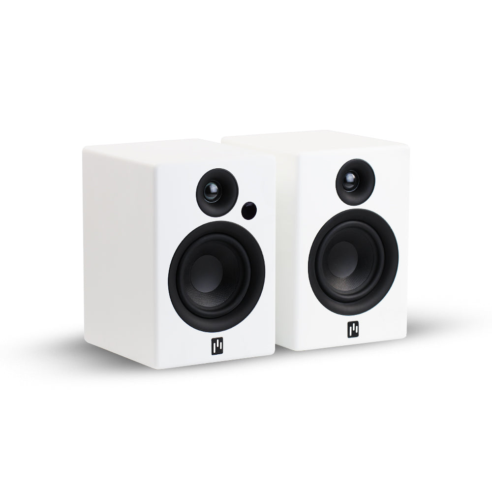 Open Box ~ Allaire Bluetooth Speaker Pair - Pure White - Aperion Audio