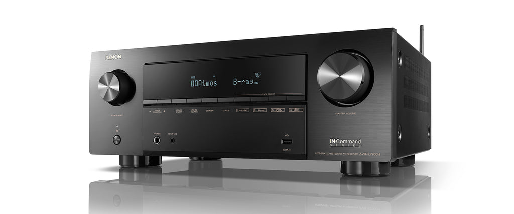 Denon AVR-X2700H 8K Ready 7.2 Channel AV Surround Receiver 95W Atmos 4K Bluetooth