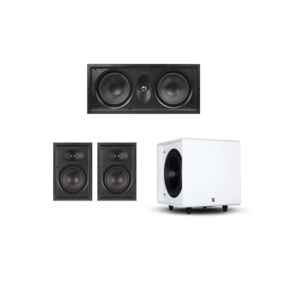 Clearus In-Wall 3.1 Speaker System with Bravus II 10D Powered Subwoofer