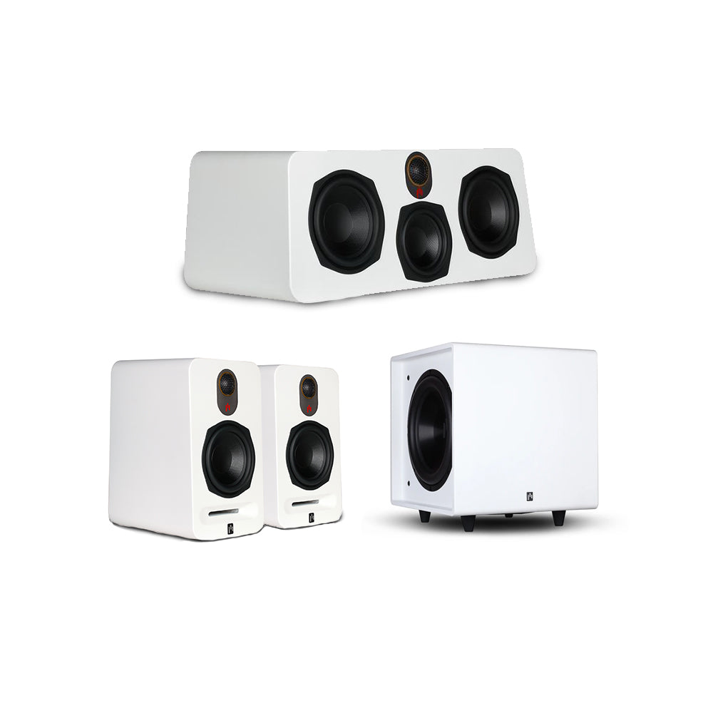 Novus Bookshelf Harmony 3.1 Speaker System with Bravus II 10D Powered Subwoofer