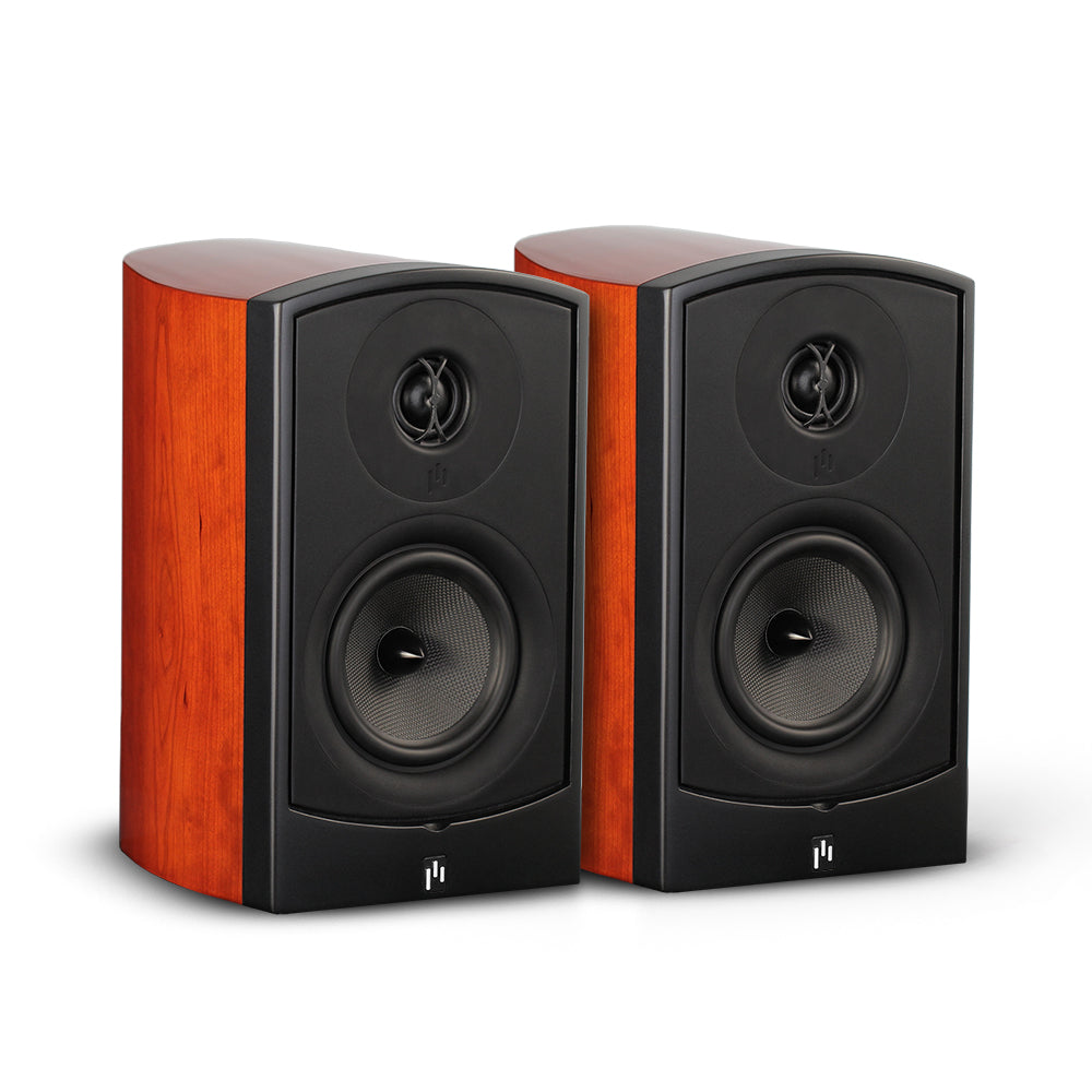 Closeout (New in Box) ~ Verus II Grand Bookshelf Speaker Pair - Gloss Cherry