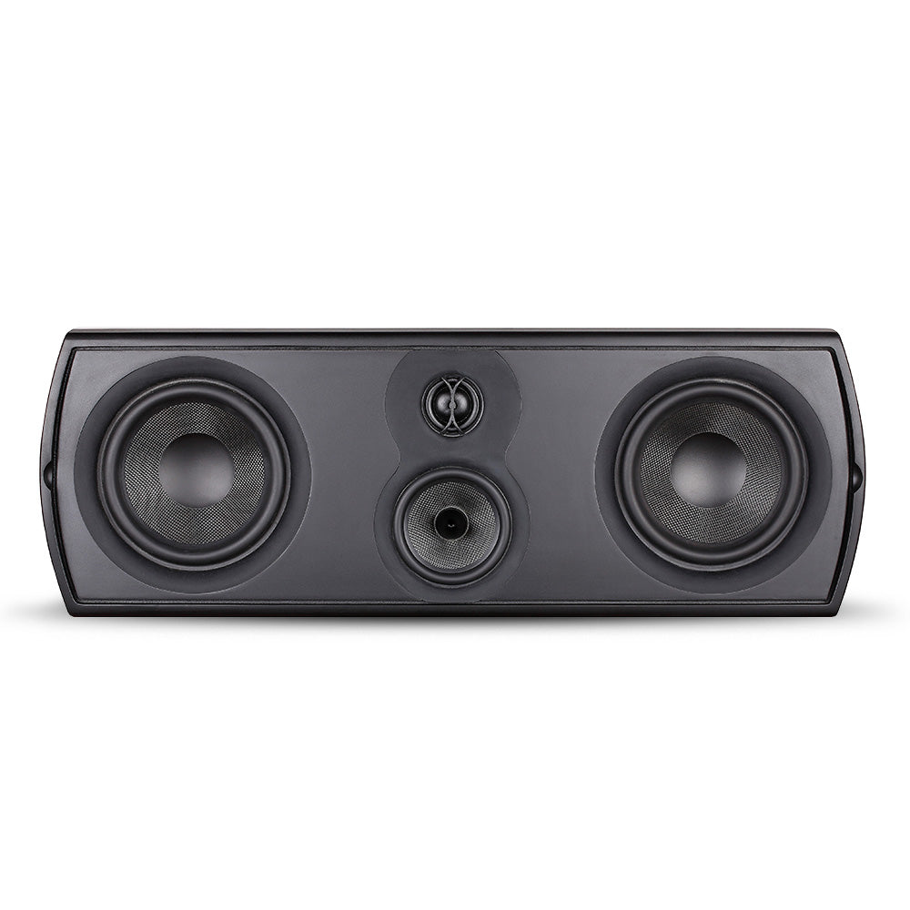 Closeout (New in Box) ~ Verus II Grand Center Channel Speaker - Gloss Black & Cherry Veneer