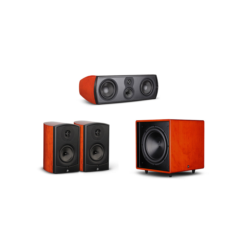 Verus Grand Bookshelf Harmony 3.1 Speaker System with Bravus II 12D Powered Subwoofer