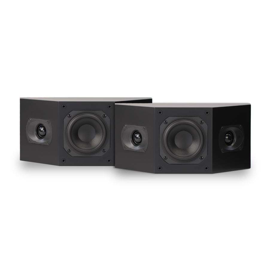 Open Box ~ Intimus 4BP Bipole Surround Speaker Pair - Stealth Black - Aperion Audio
