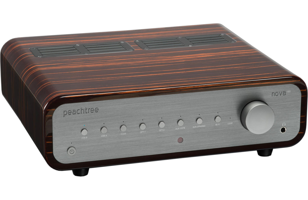 Peachtree Nova150 Stereo Amplifier - Gloss Ebony Mocha - Aperion Audio