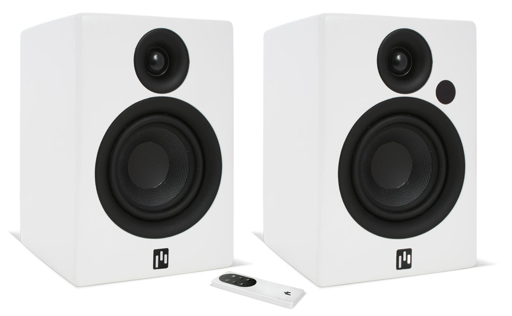Open Box ~ Allaire Bluetooth Speaker Pair - Matte White
