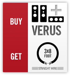 Buy Verus 3.0 or larger Verus get FREE Straightwire speaker cables