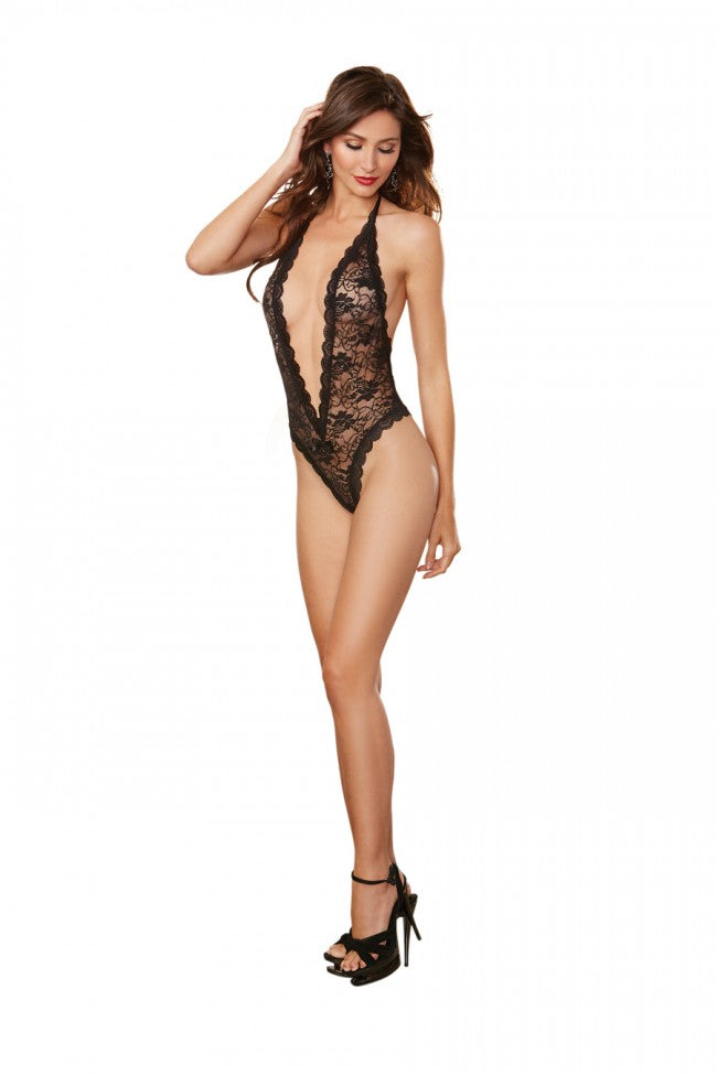 7ab9c890b Dreamgirl Black Lace Teddy with Heart Cut-Out Detail – DAYNIE