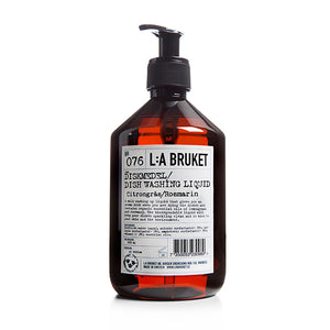 L:A BRUKET / 076 Dishwashing Soap (Lemongrass / Rosemary)