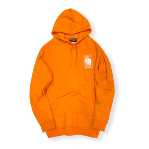 VIOLA&ROSES / VIOLA EMBROIDERED HEAVY WEIGHT HOODIE (ORANGE)