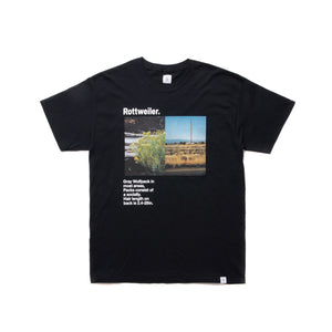 ROTTWEILER / Flower Photo Tee (BLACK)