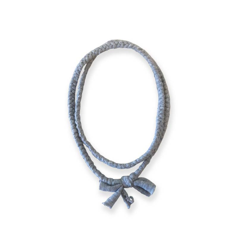 NAISSANCE / Braid Necklace(GRAY)