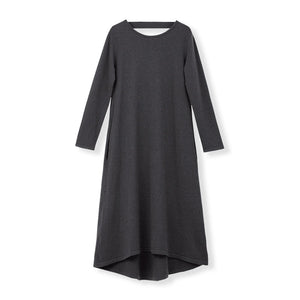 MYLAN / Back Ribbon Knit Dress (Stone Gray)